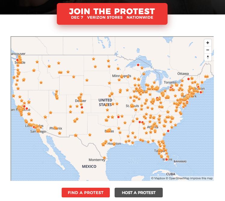 Verizon Store Net Neutrality Protests