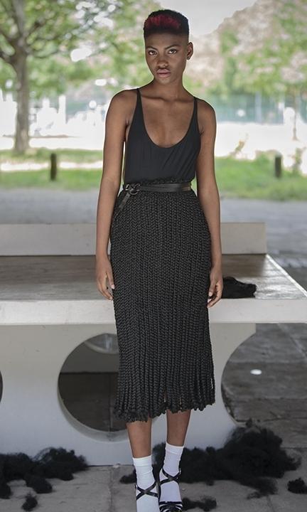 Braided skirt