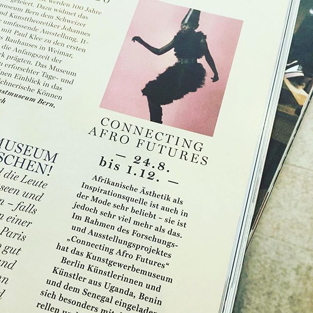 Have no idea what this says... Any one read in German?? 👀  #repost @fashionafricanow  Spotted in @flairmagazin 🌟