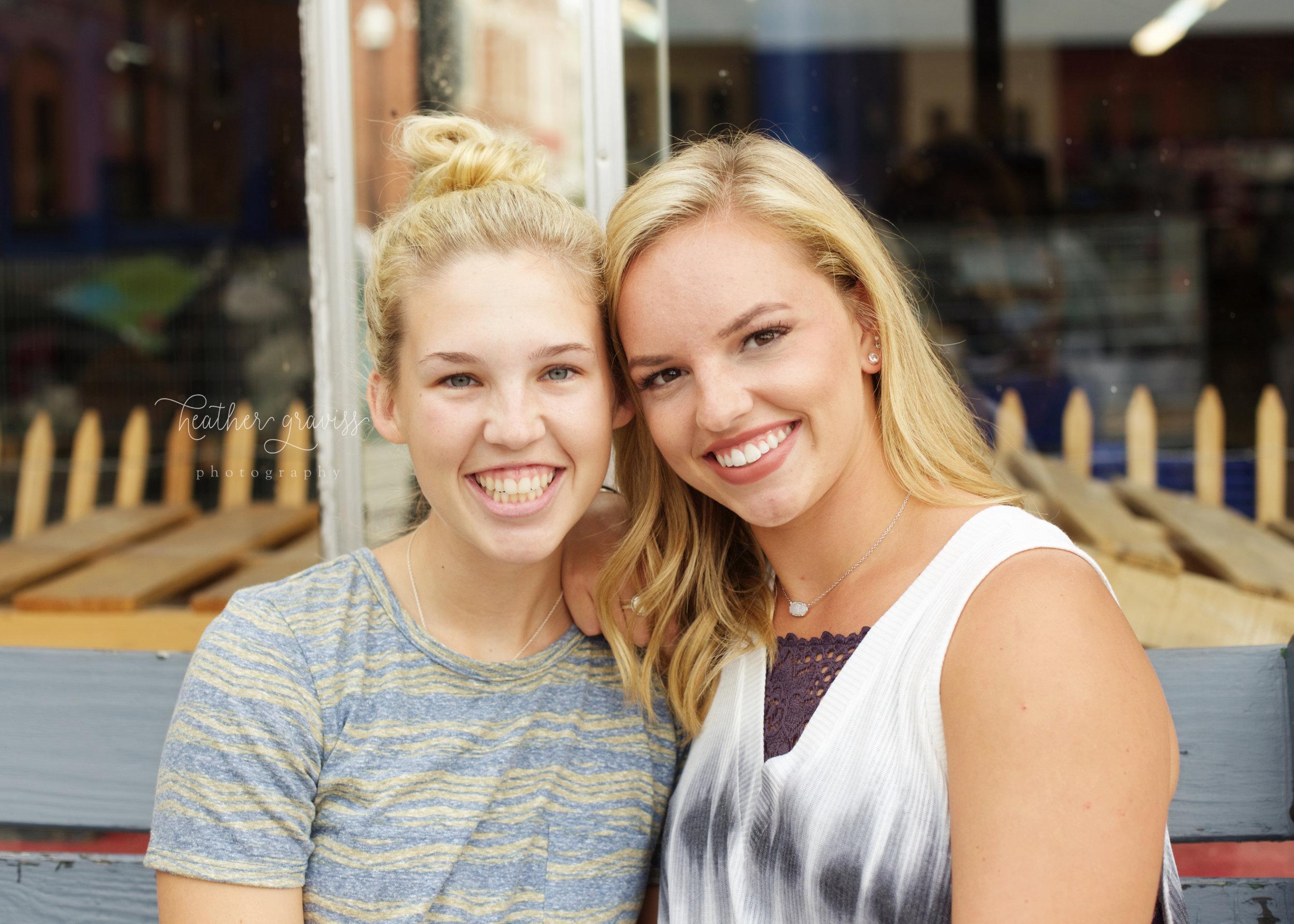 senior girl with friend