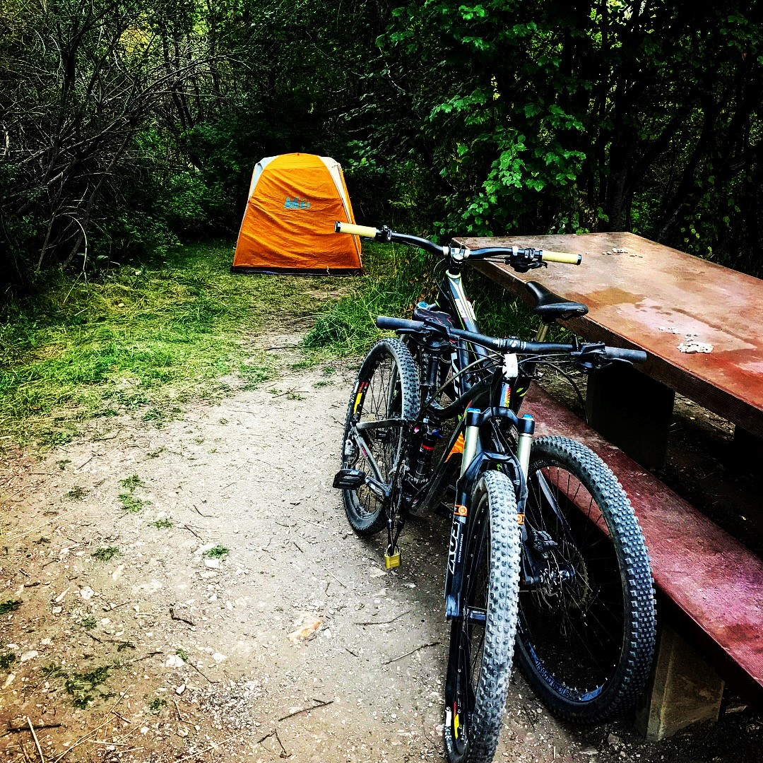 We were dirty and exhausted, and one more mile from pulling over to road camp when we chanced upon the perfect camping spot in Idaho!