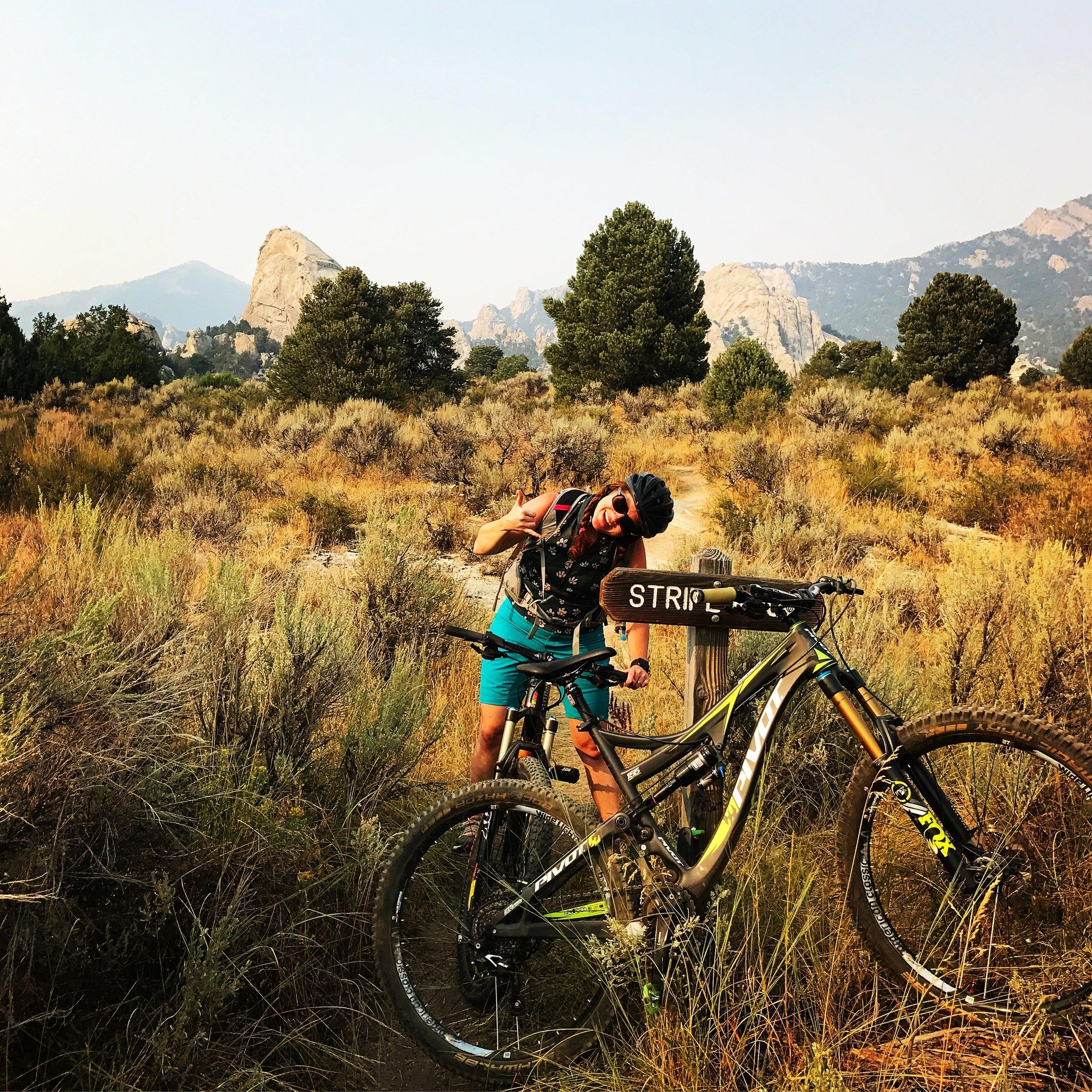 Mountain biking in the City of Rocks, Idaho...who knew?!?!