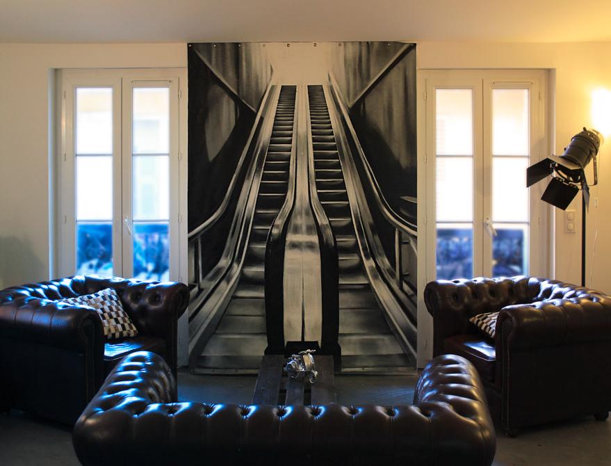 Spray sur toile - 165 x 270cm - 2012