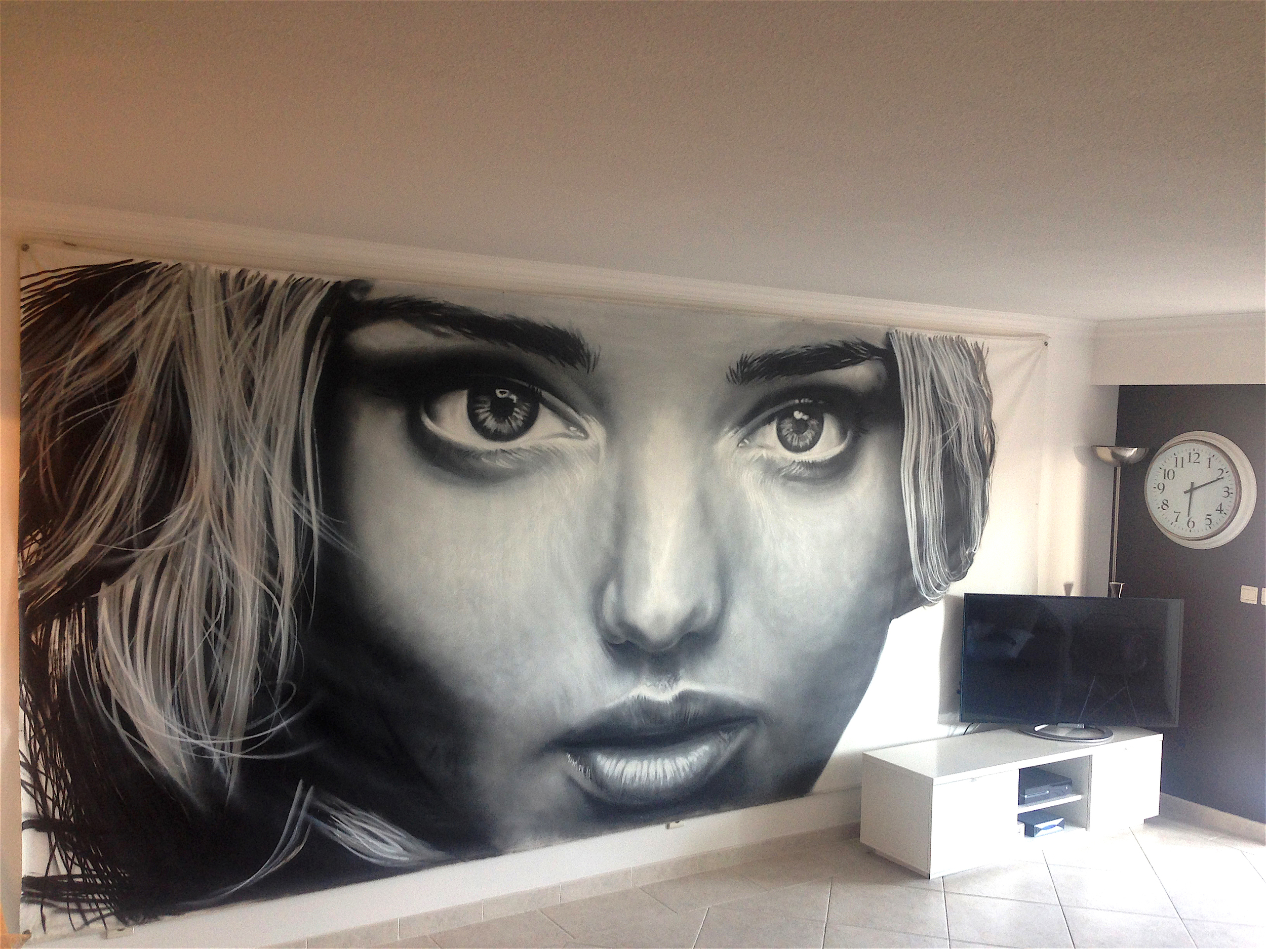 Spray sur toile - 210 x 440cm - 2013