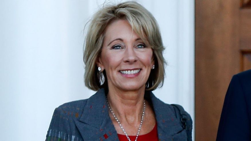 """""""The mantra of opportunity, choice and competition has been the guiding principle for Betsy DeVos in Michigan and nationally."""" - NPR's Eric Westerveldt"""