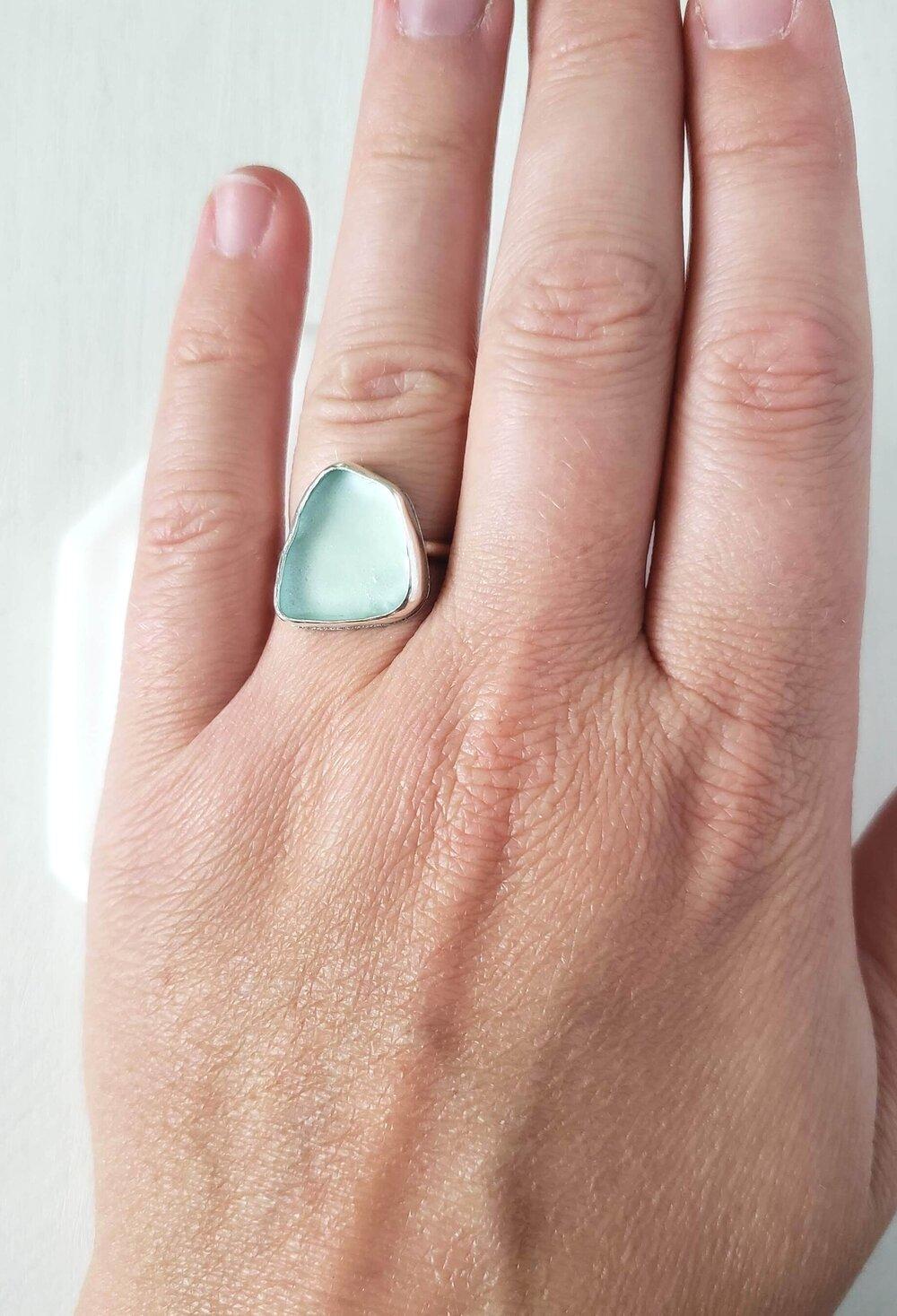 7 seaglass ring