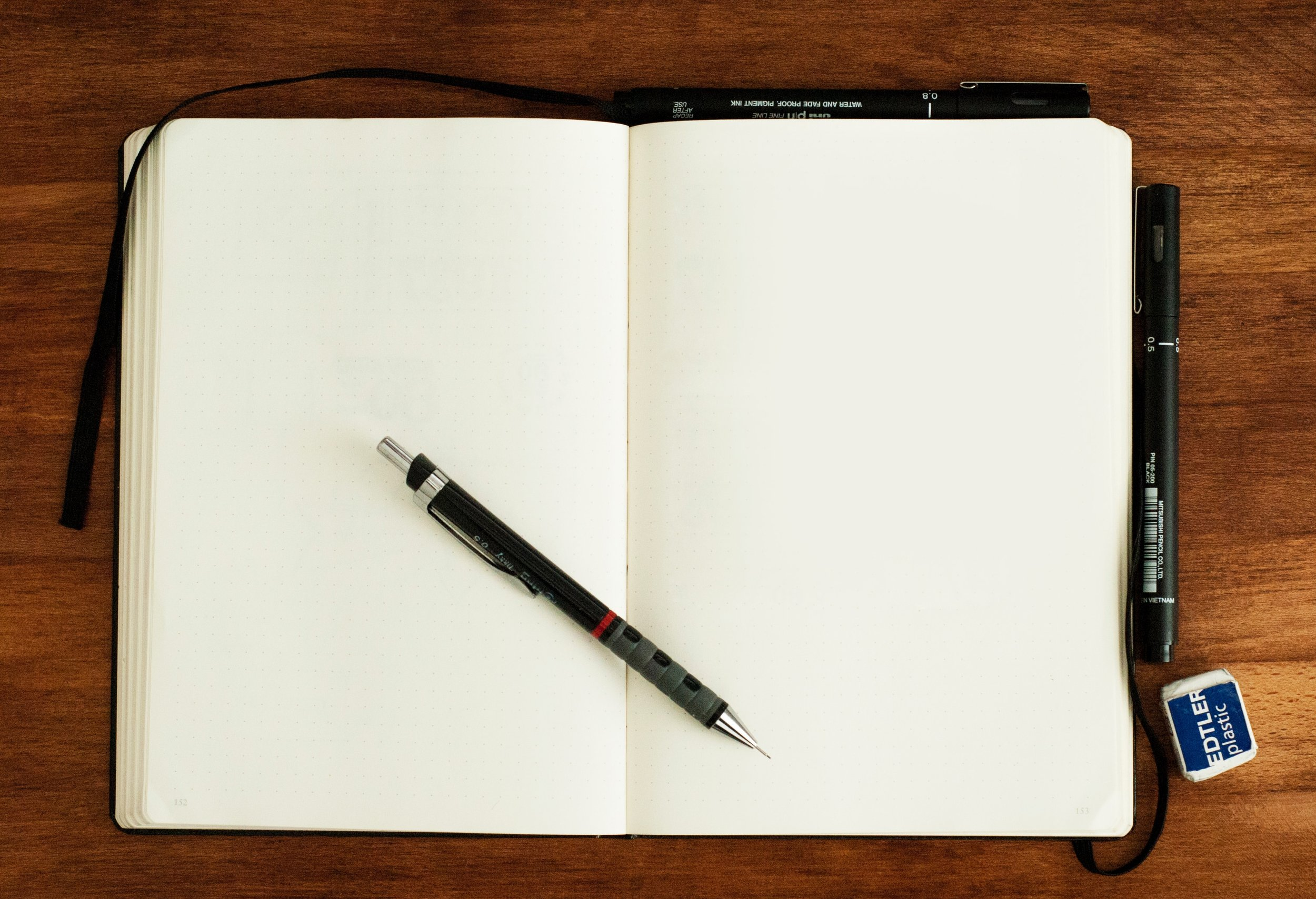 It all starts with a blank page.
