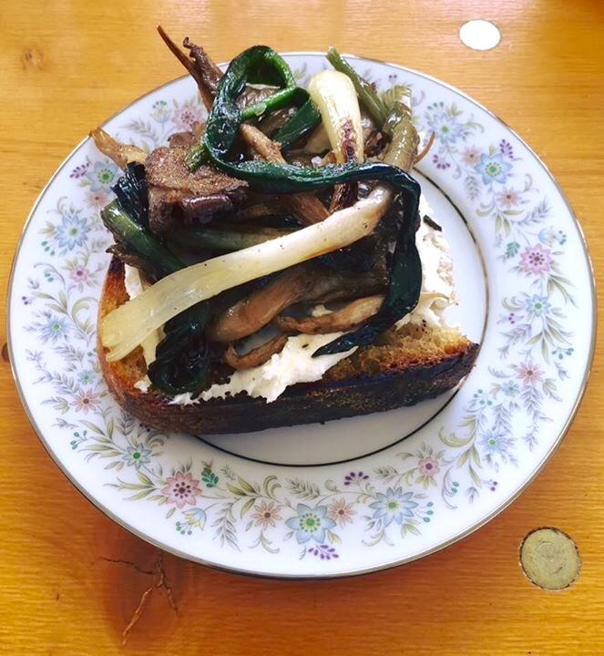 ramp & oyster mushroom, brown butter, house-made ricotta