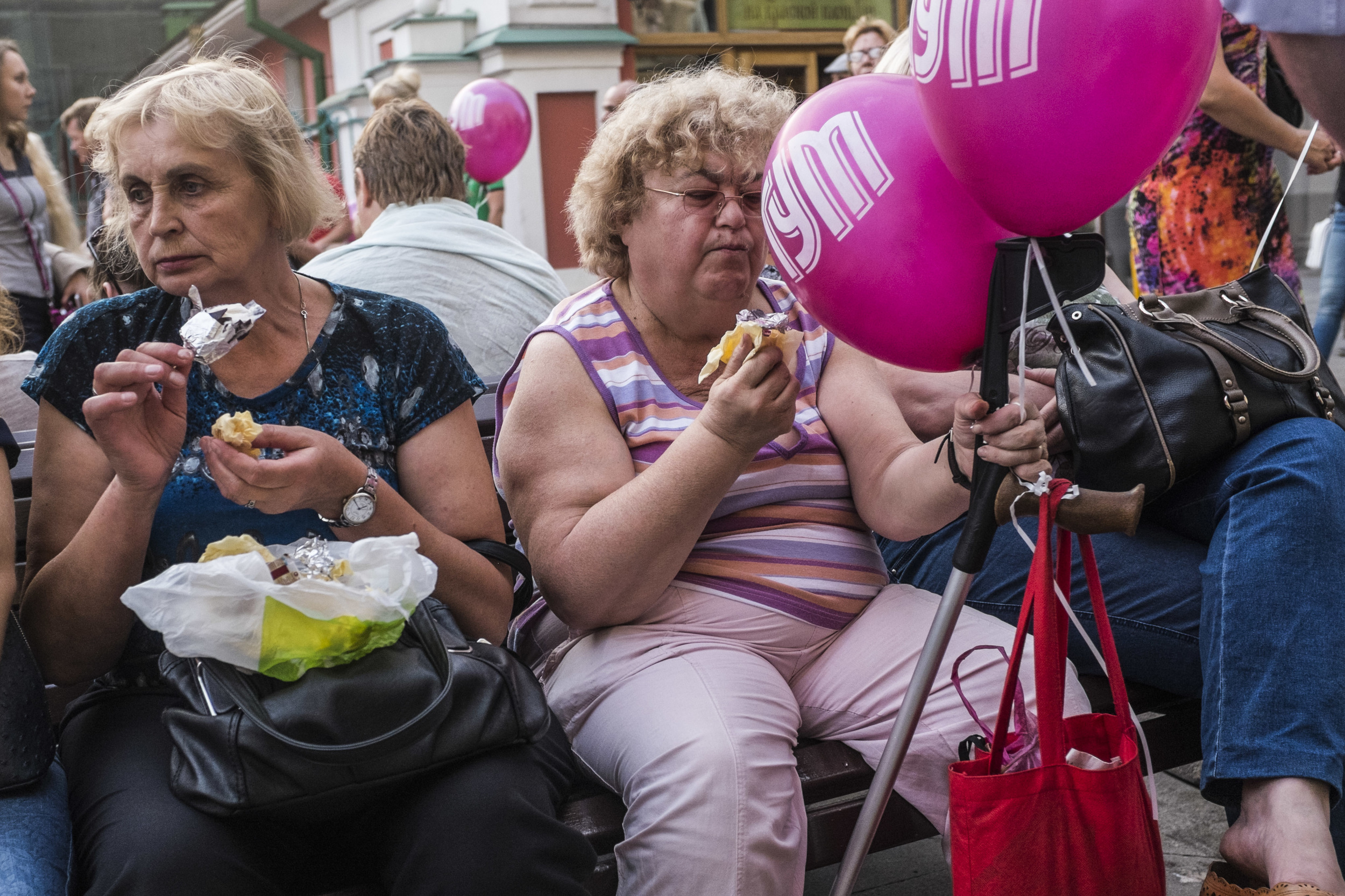 Free ice cream festival at Moscow's GUM department store. July 9, 2015