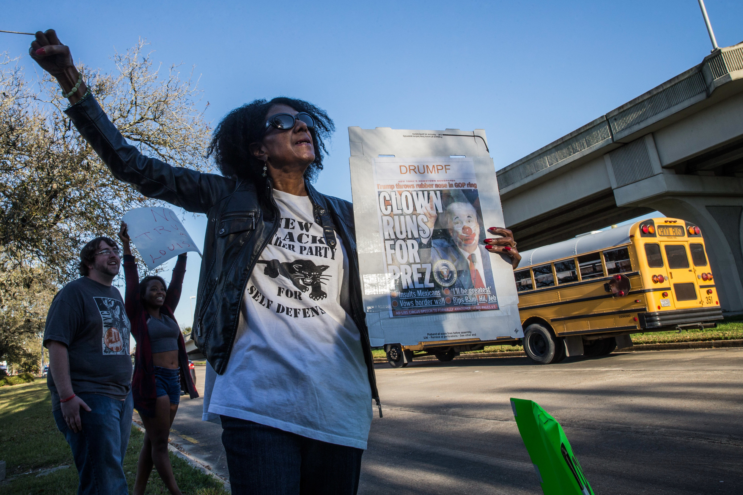 Protesters oppose Trump's rally