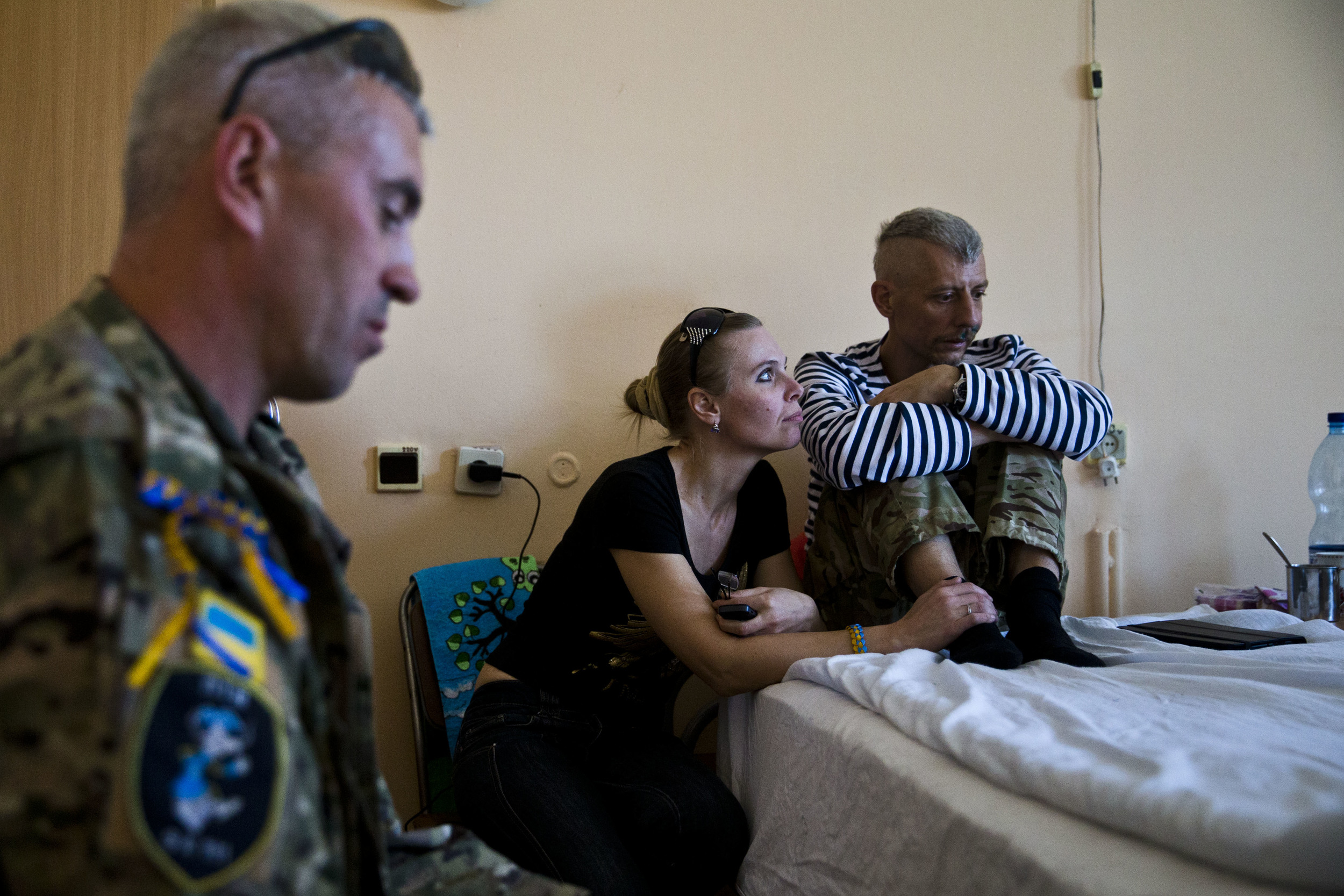 Wounded soldiers are seen in a hospital in Dniepropetrovsk
