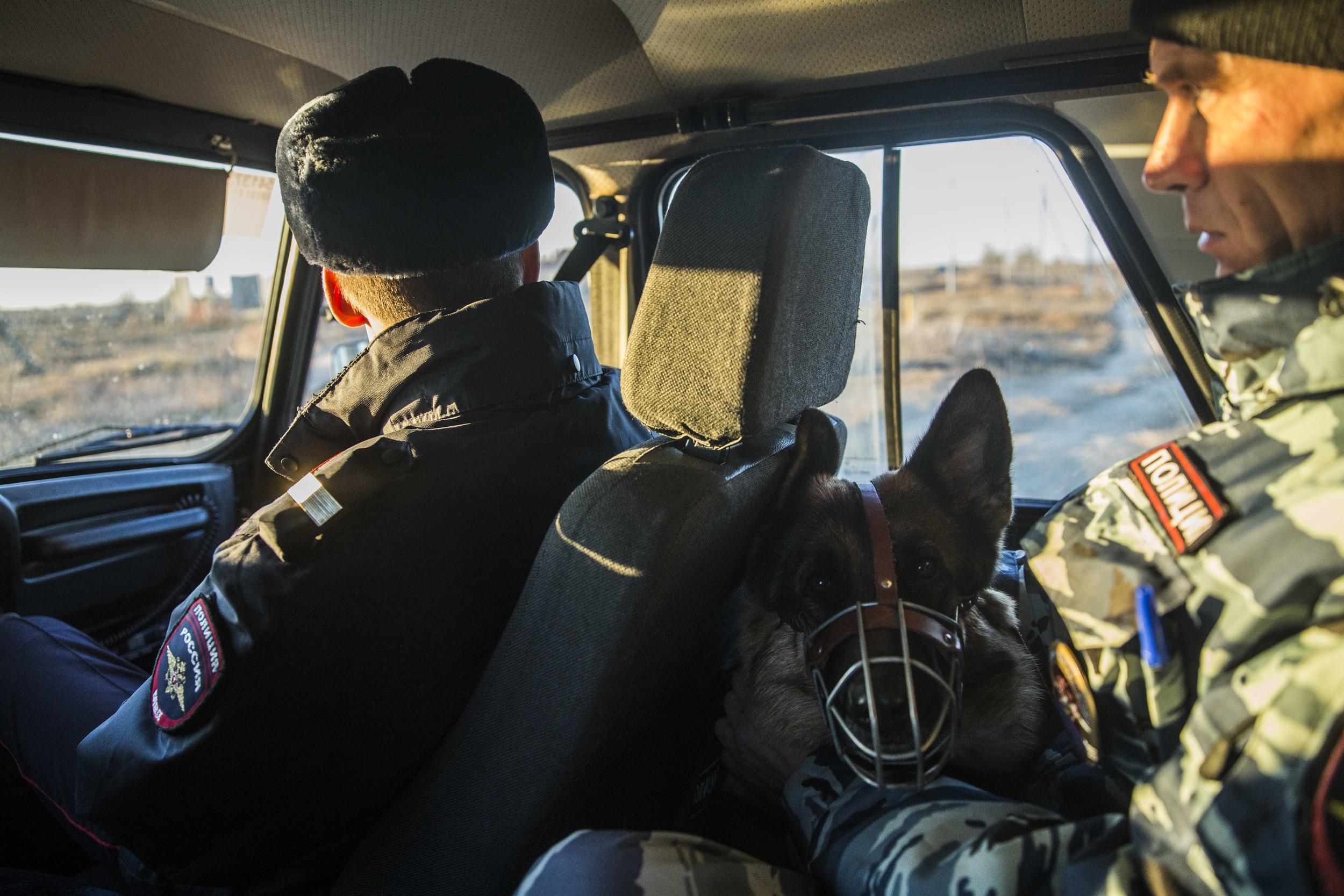Local police patrol