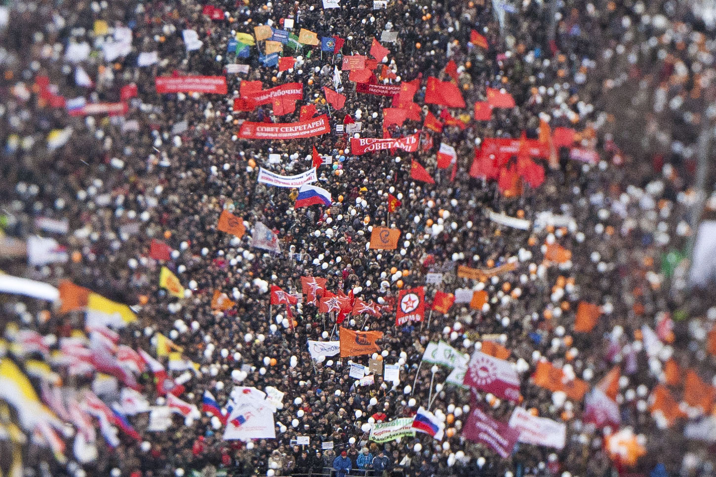 A rally at Moscow's Sakharova prospekt, second huge rally of 2011-12 winter protetst