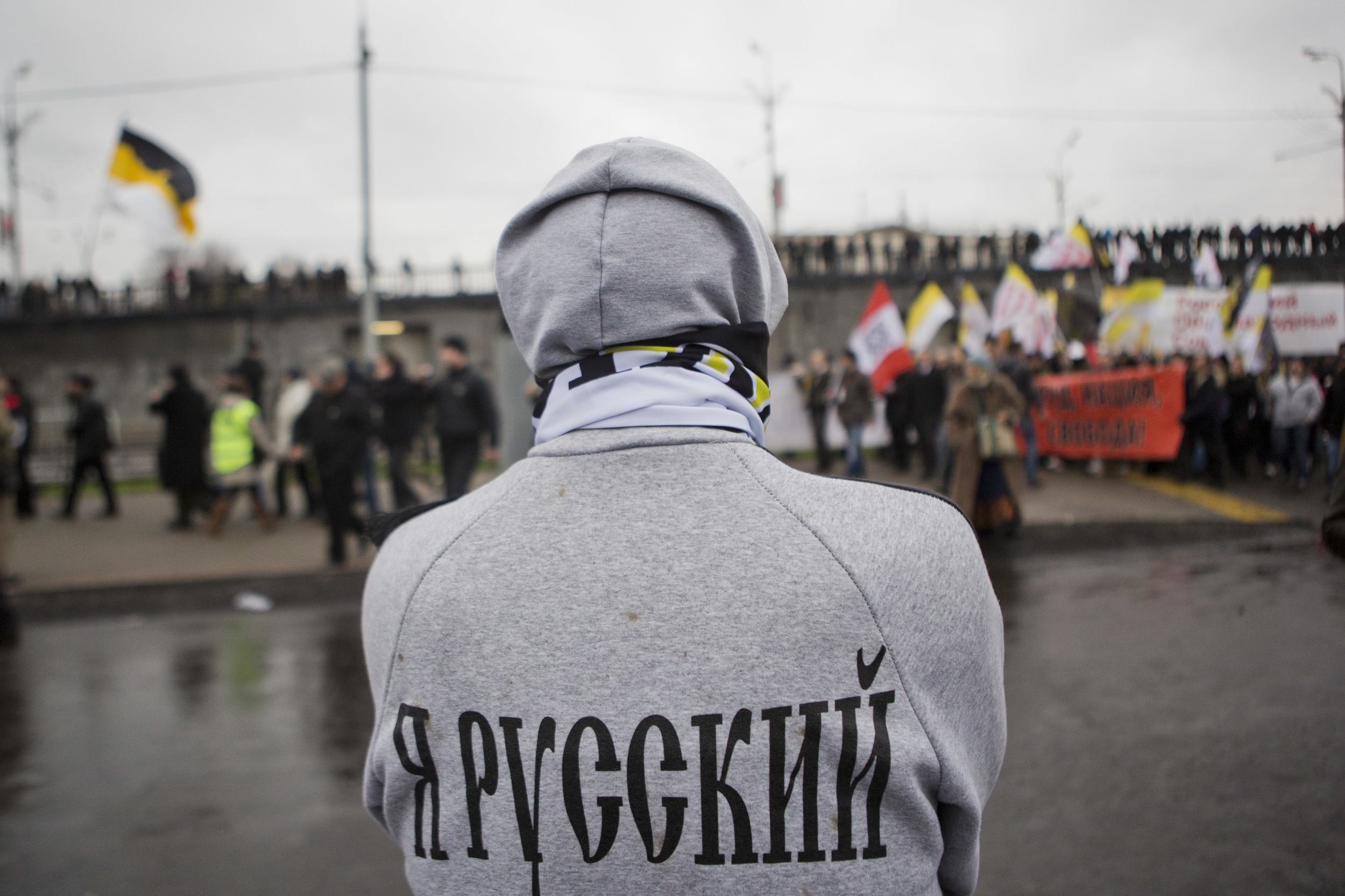 Pationalists participate in Russian march. November 2012