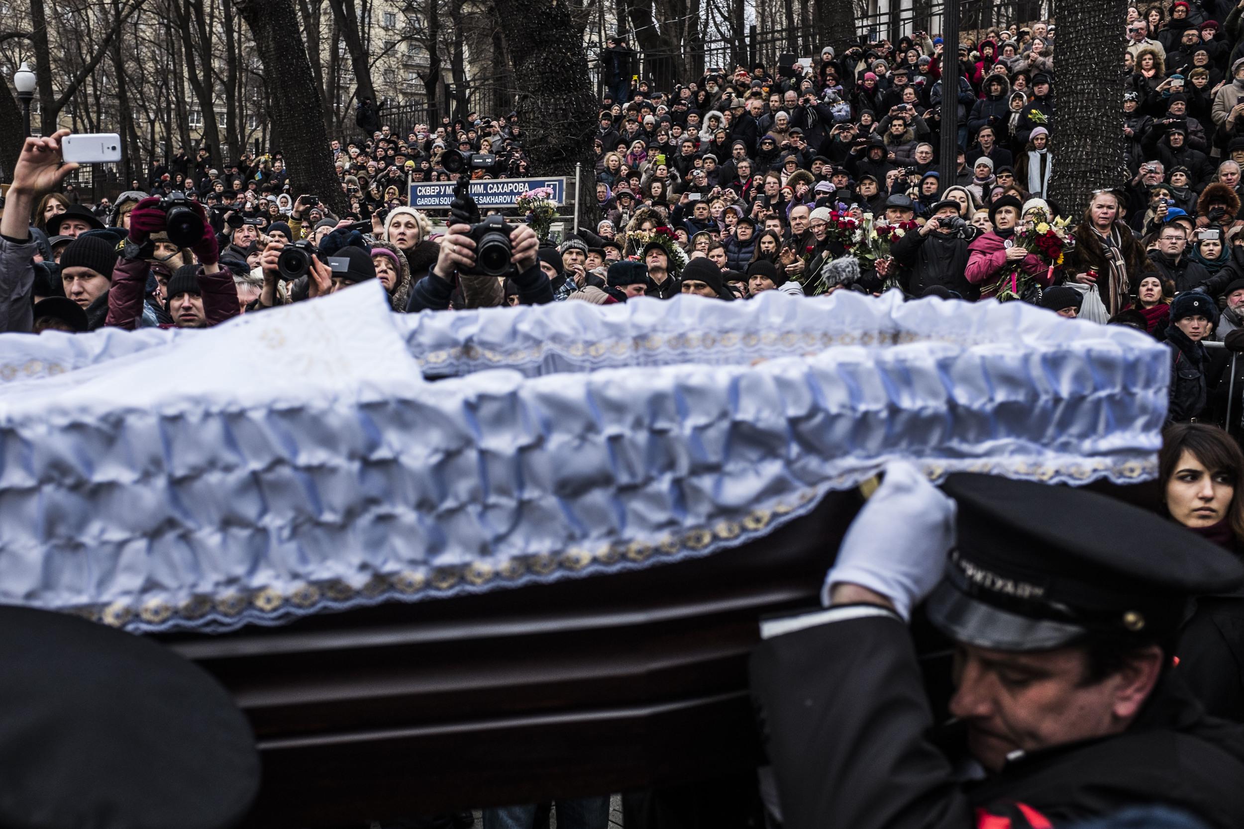 Boris Nemtsov's funerals. March 2015