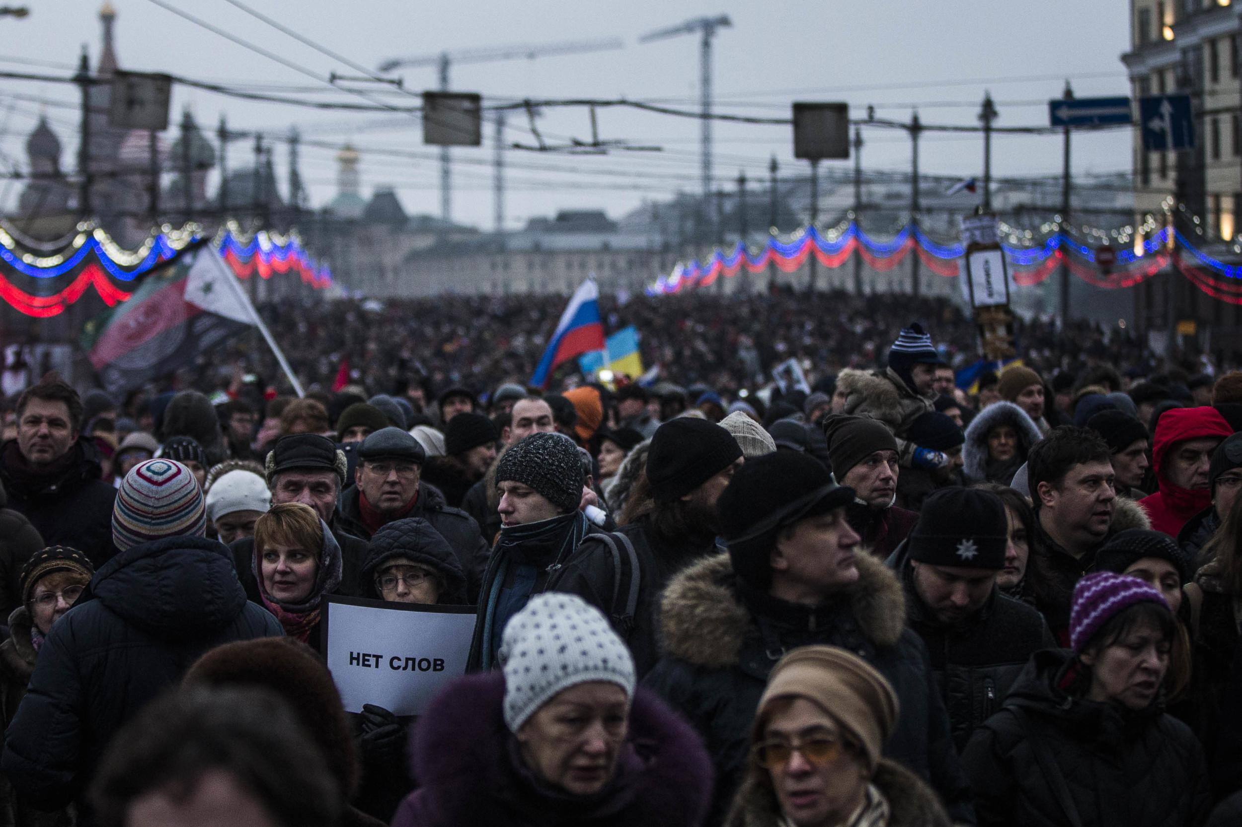 Boris Nemtsov's mourning march. March 2015