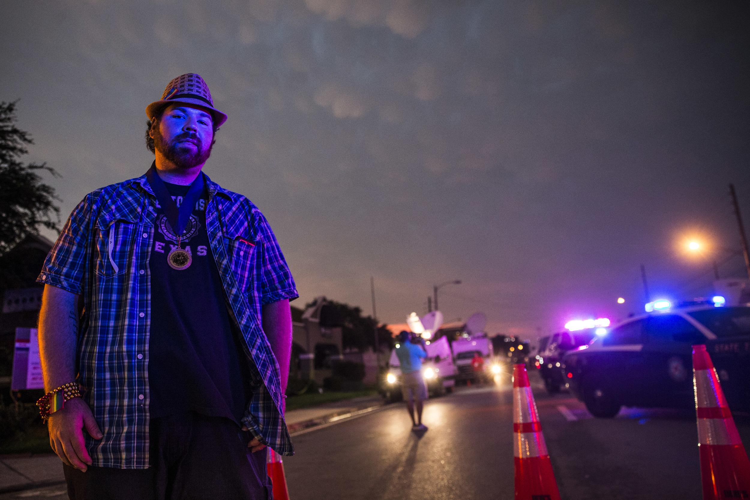Chritopher Harris, Orlando gay club shooting survivor, came back to a tragedy's site