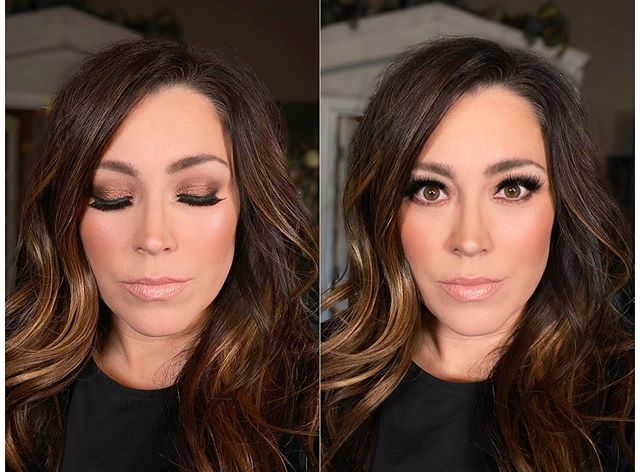 """Makeup on @karijobe a couple of days ago. . I'm running out of words to explain how stunning she is & how much I love her heart (and face of course). . I'm so insanely thankful she took a chance on me. I love when she sits in my chair and I ask what she wants and she says """"you know, whatever you think"""" 🤣 Then, once I start going over ideas...we're both on the same page!! . She also has the most generous heart & kindest spirit. She's good people. ❤️❤️❤️❤️❤️ . . PRODUCTS: . @soniarosellibeauty water elixir to prep. . @vdlus Lumilayer Primer Fresh & Perfect Lasting Foundation. . @danessa_myricks Vision Cream Cover. . @itcosmetics Bye Bye UnderEye concealer & Blow Out mascara. . @ardellbeauty lashes. . My Secret Set Powder. . @lauramercier Candle Glow Sheer Perfecting Powder. . @beccacosmetics Blush & Bronzer. . @kevynaucoin Molten Lip color and highlight. . . . #mua #makeup #makeupartist #makeupbyme #isntshelovely #beauty #promua #dfwmua #promakeupartist #havemakeupwilltravel #heatherspiveymua #karijobe"""
