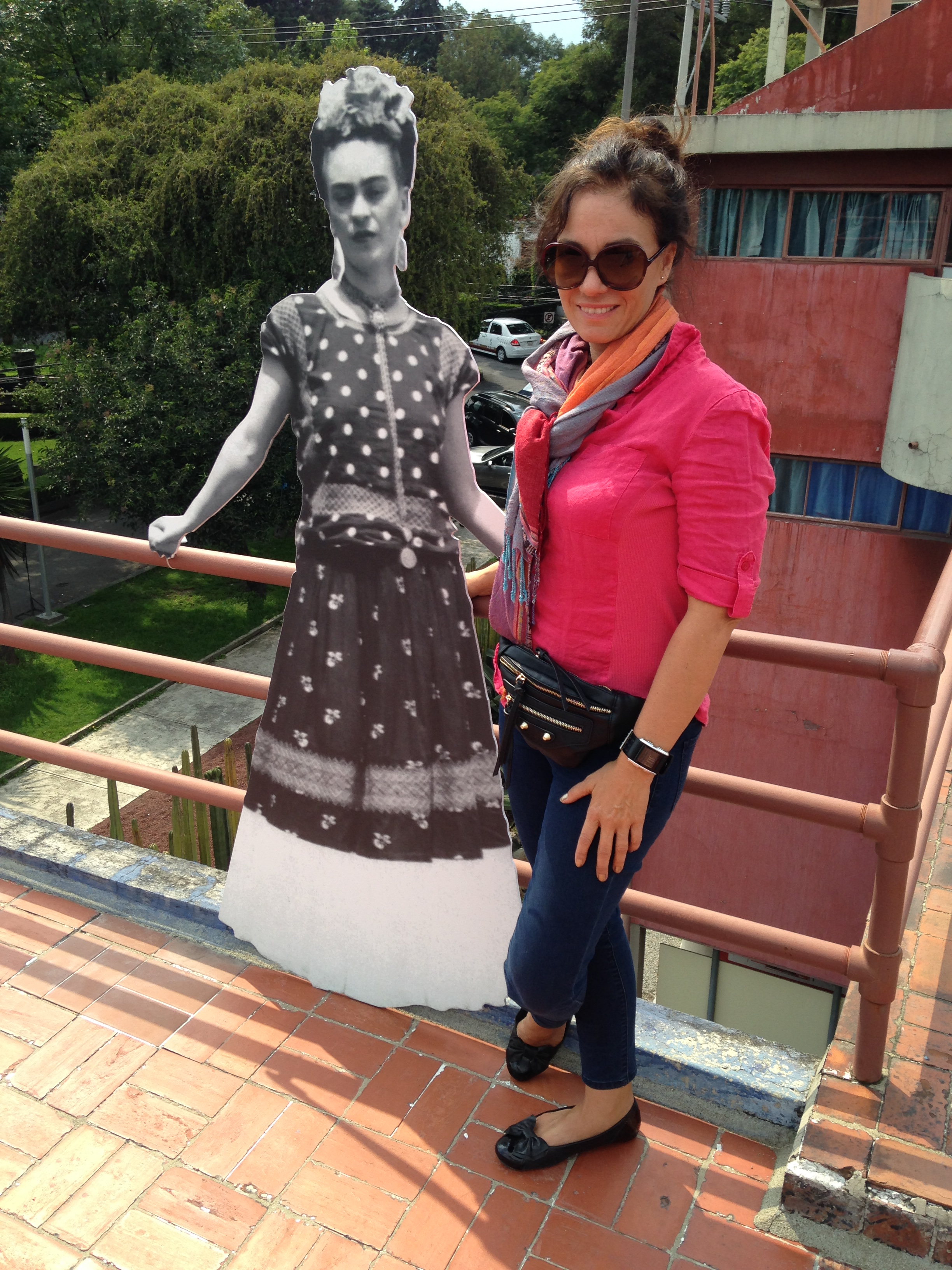 Me and Frida in San Angel, Mexico City.