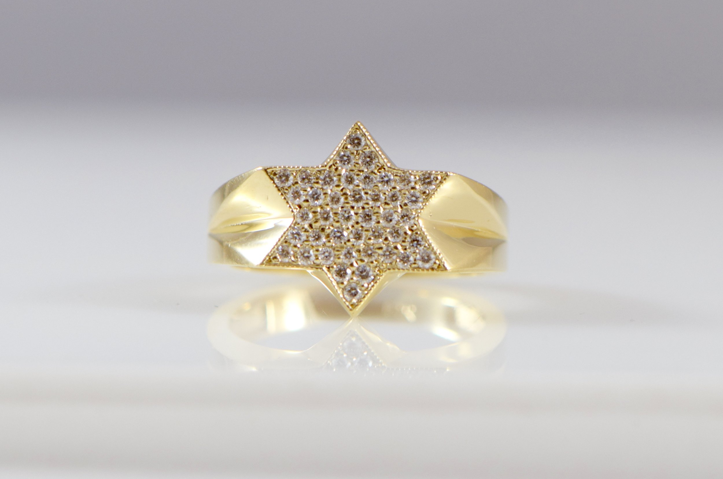 Men's Star of David Diamond ring