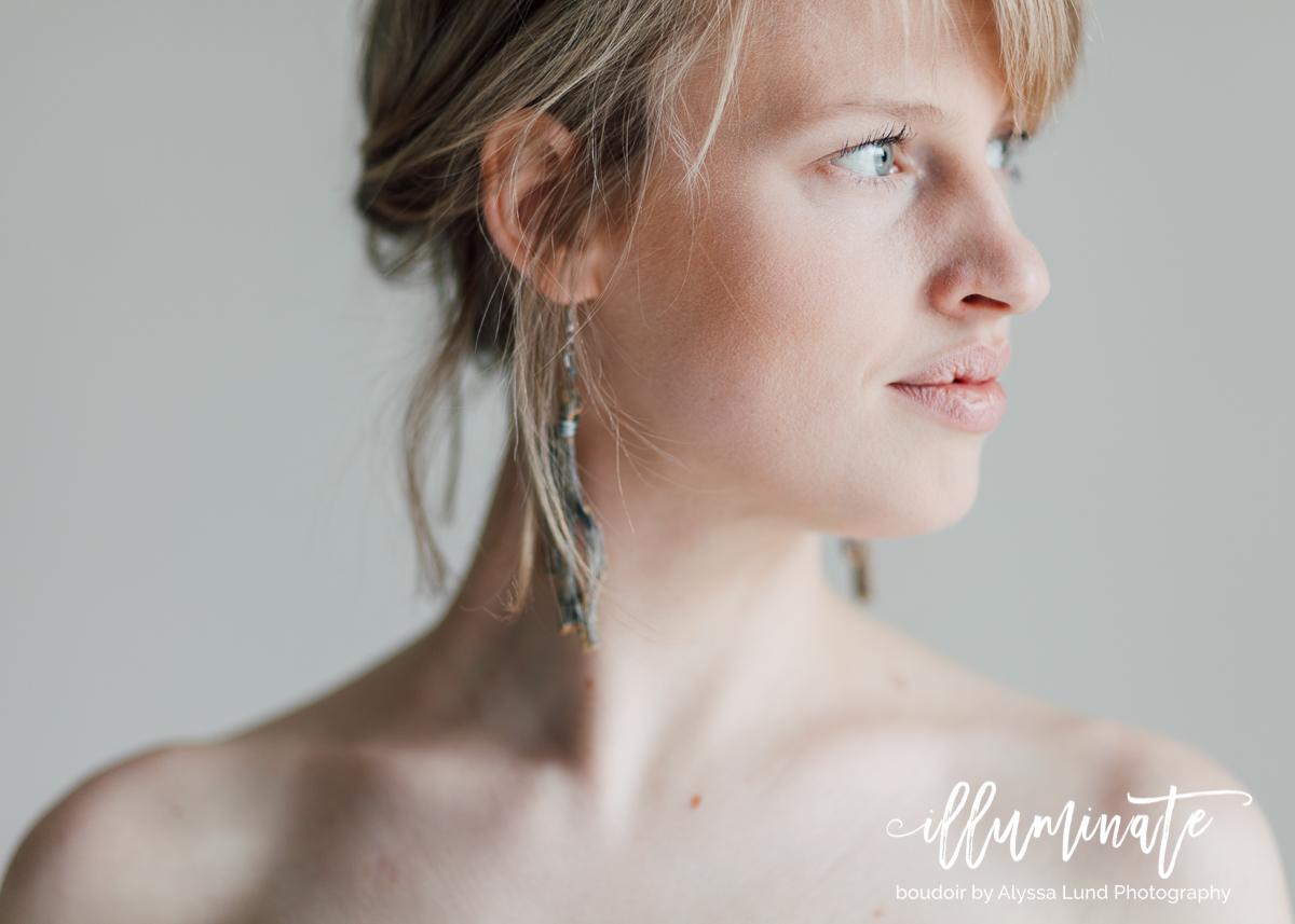 Amanda's elegant boudoir portraits were captured in my apartment studio here in Uptown, Minneapolis