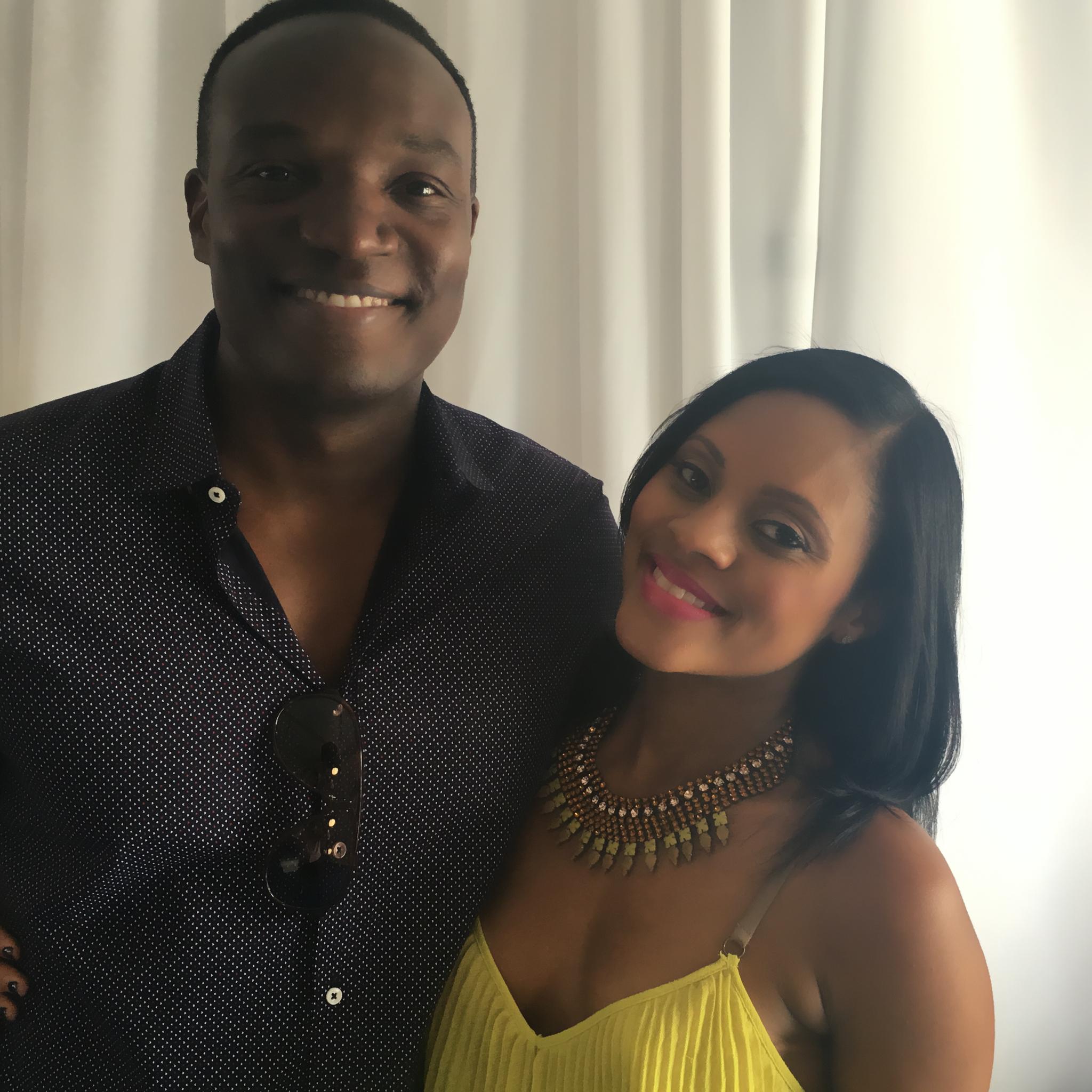 Host Maria Wills and Kwame Jackson