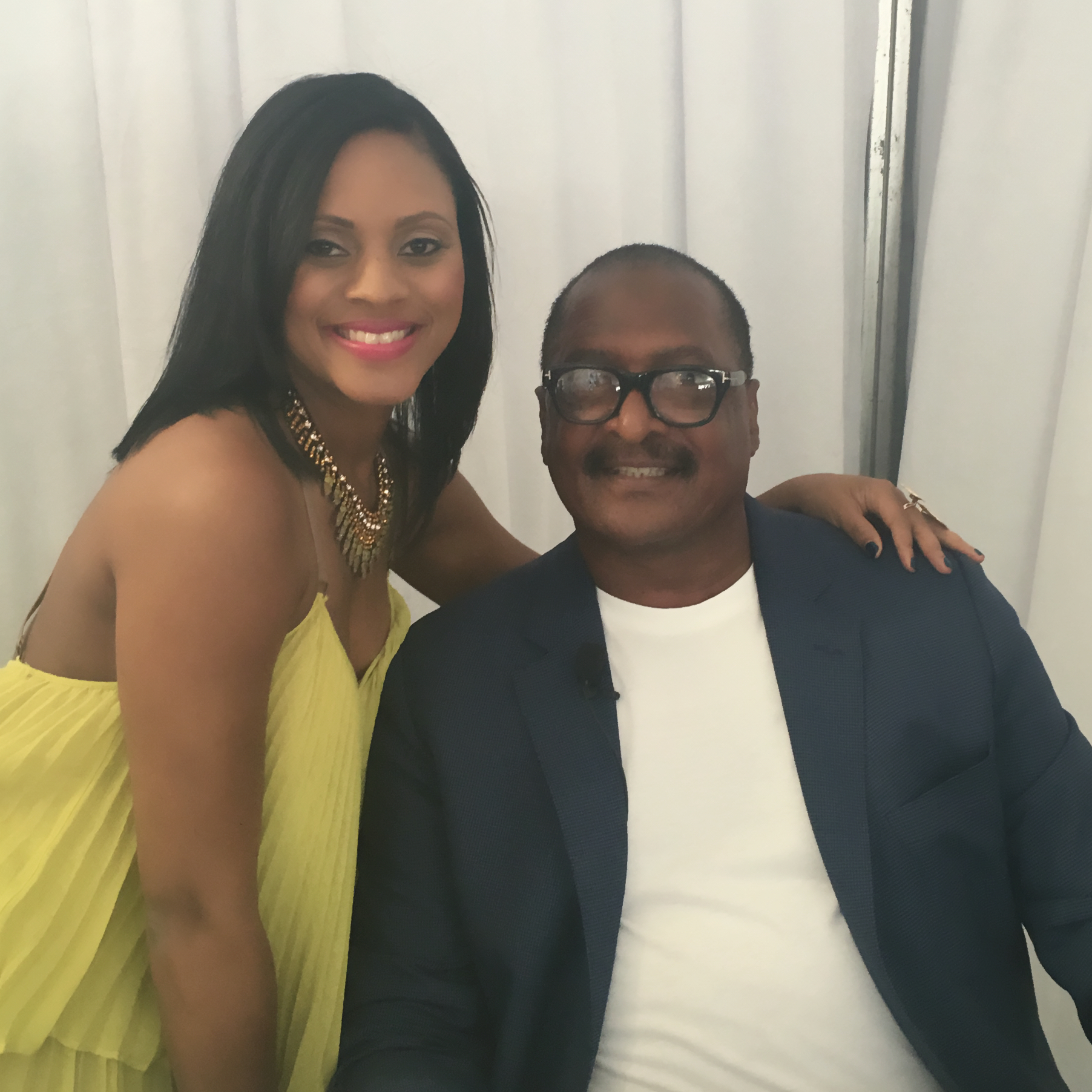 Host Maria Wills and Matthew Knowles