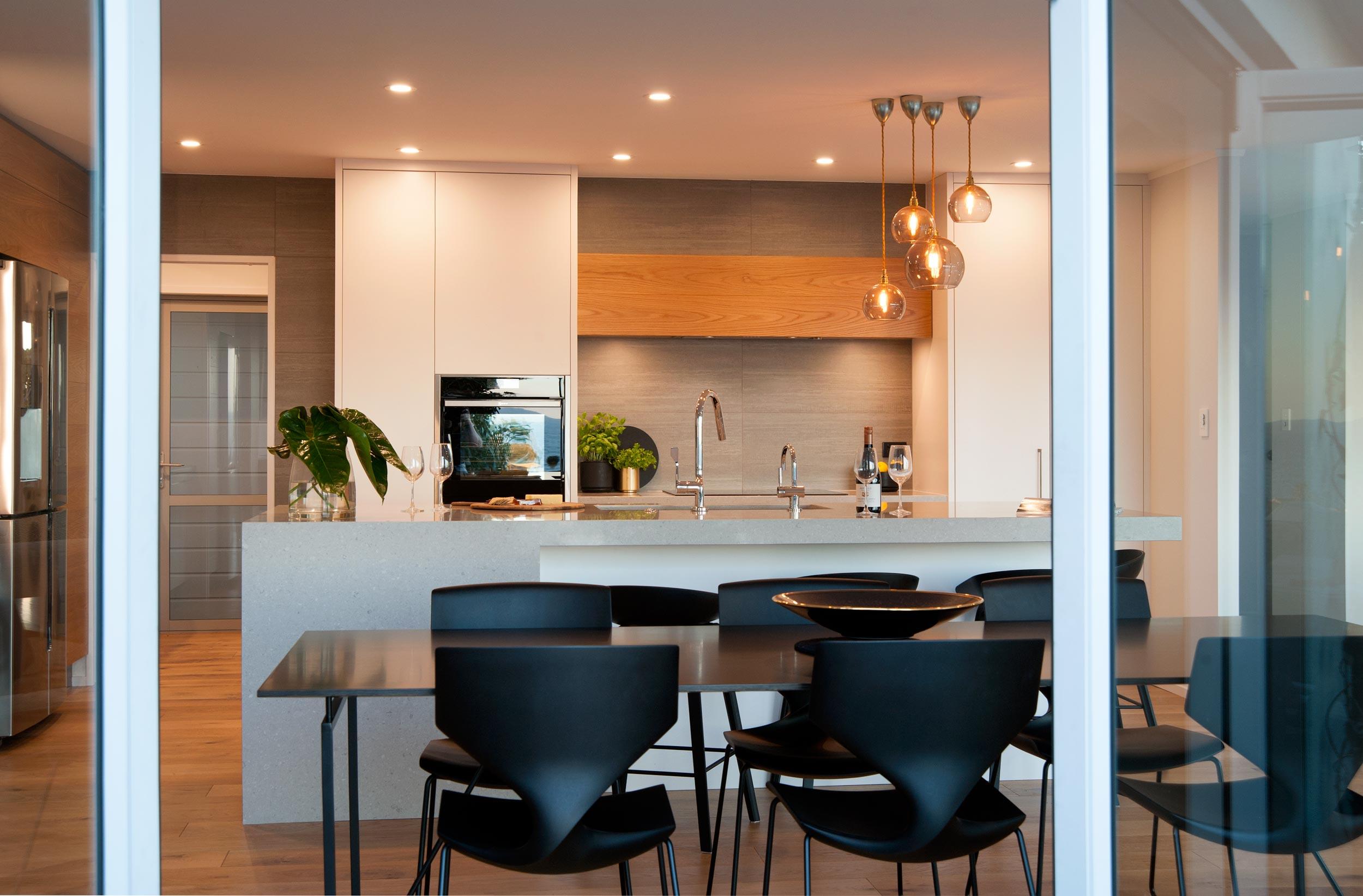Kirsten Ford Design renovation red beach kitchen