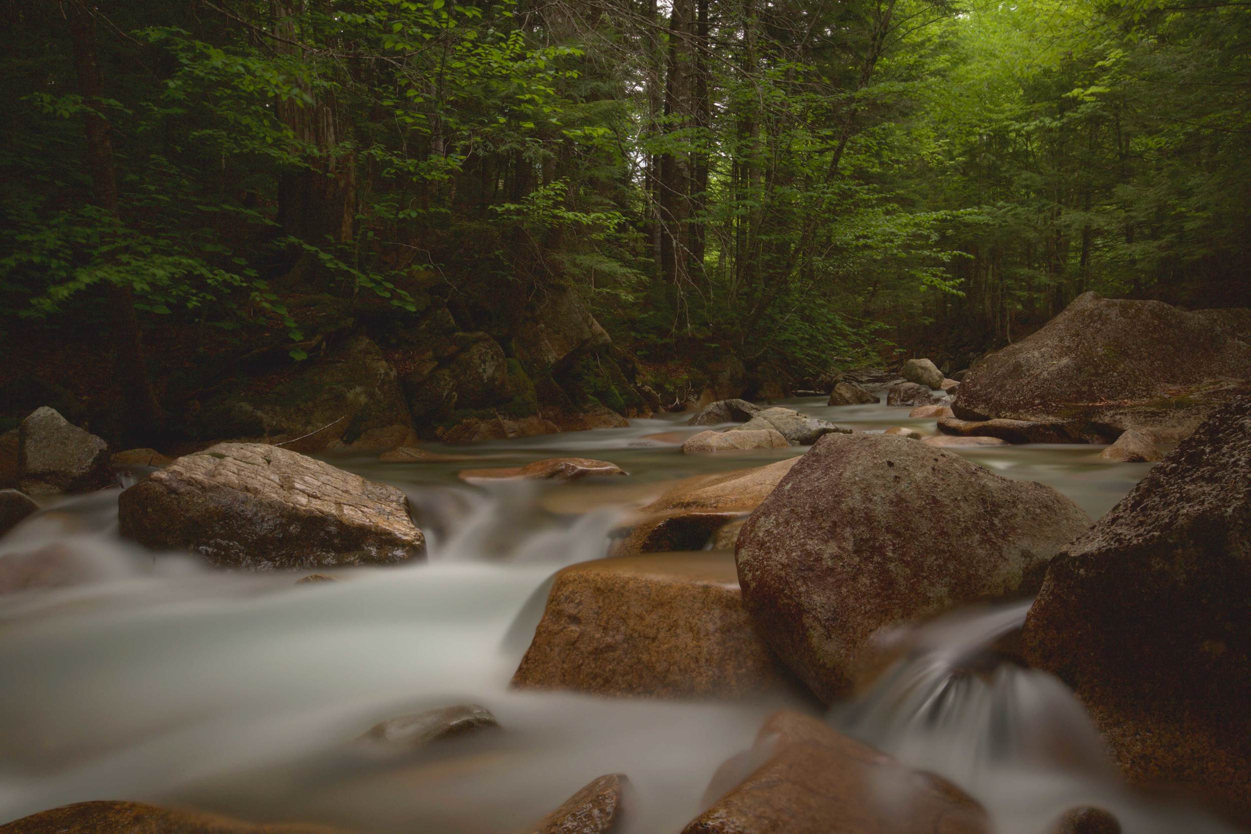 Below the Basin  Franconia Notch State Park  Lincoln, NH