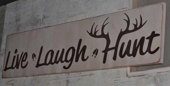 """M2: Live Laugh Hunt (10"""" x 21"""")"""