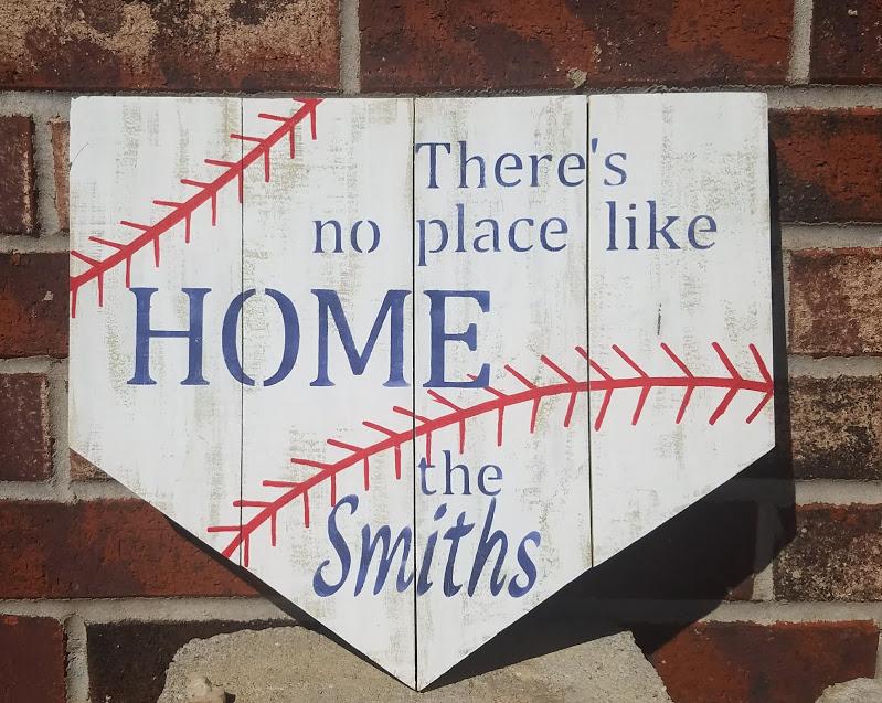 """T4: Baseball Family Sign (14"""" x 14"""")"""