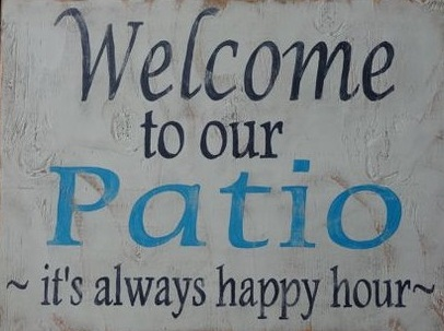 """W10: Welcome to our patio (14"""" x 14"""")"""