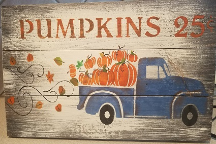 """Fall2: Pumpkin Pickup (14"""" x 21"""")"""