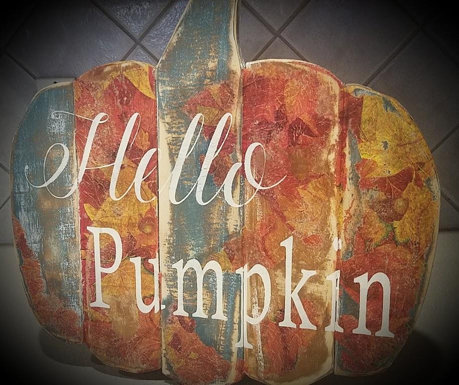 """Fall1: Hello Pumpkin (18"""" x 14"""")"""