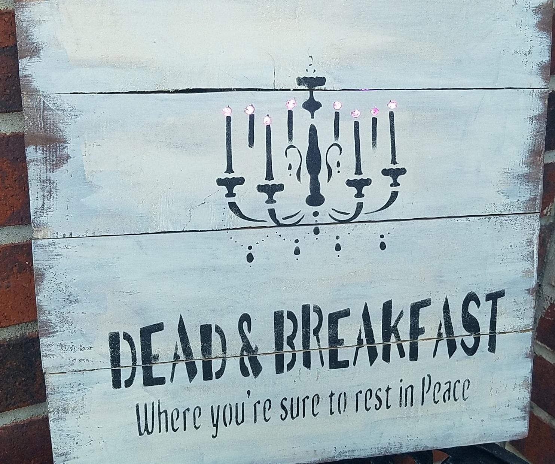"""E3:Dead & Breakfast -lights up (14"""" x 14"""")"""