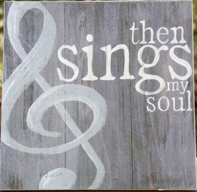 "Music4: then sings my soul (14"" x 14"")"
