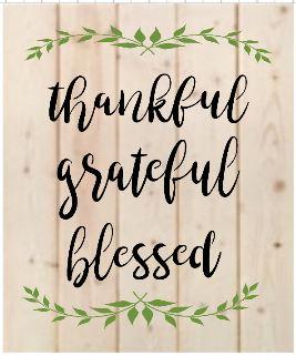 "X17: thankful grateful blessed (14"" x 21"")"
