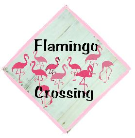 "T14: Flamingo Crossing (14"" x 14"")"