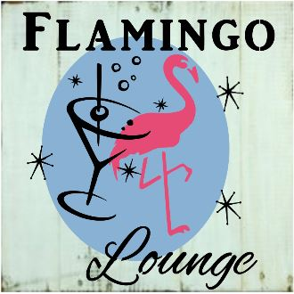 "T15: Flamingo Lounge (14"" x 14"")"