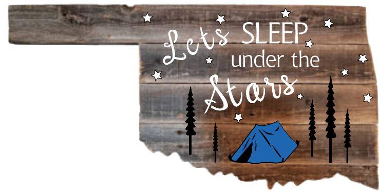 TL1: Lets sleep (tent) -Okla. cutout