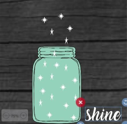 "TL7: Mason jar shine (14"" x 14"")"