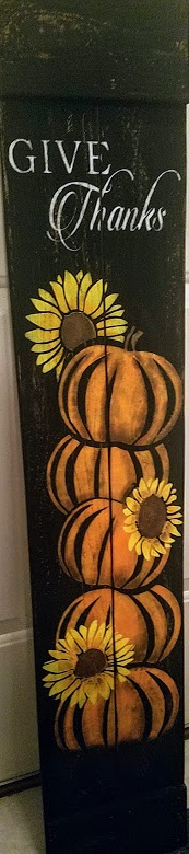 "FallOS2: Give thanks porch sign (7"" x 42"")"