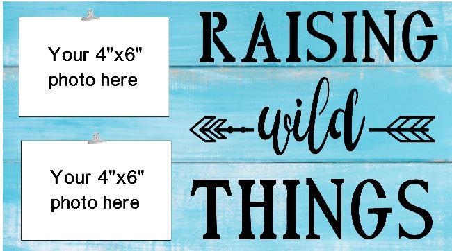 """Mom1: Raising Wild Things (10"""" x 18"""")"""