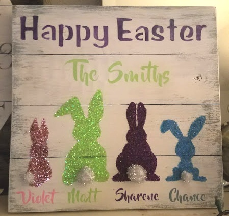 """Easter1: Happy Easter (14"""" x 14"""")"""