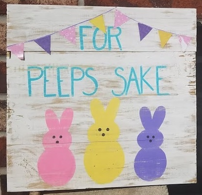"""Easter2: For Peeps Sake (14"""" x 14"""")"""