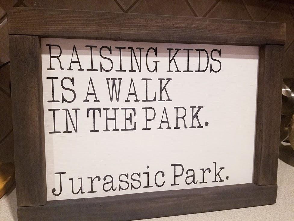 """X23: Raising Kids is a walk (10"""" x 18"""")"""