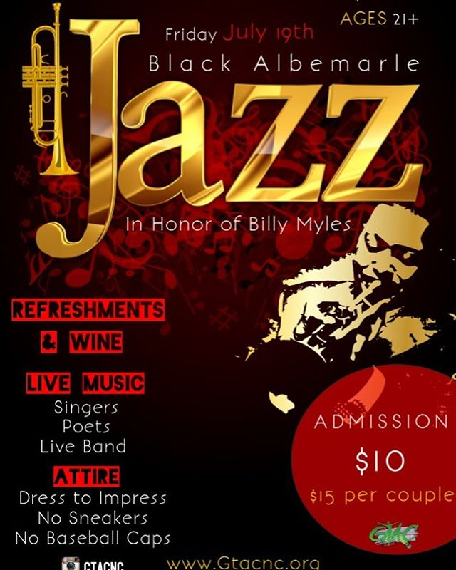 Come out and Support! . Black Albemarle Jazz Fest 2019 🎷 . Live Music 🎶  Refreshments 🥂 . Celebrating the arts and remembering the pioneers of the culture at the Historic Old Roxy Theatre 🎭  #greenvillenc #Gtacnc #LiveMusic #Jazz #SupportSupportSupport #Poets #Singers #Musicians