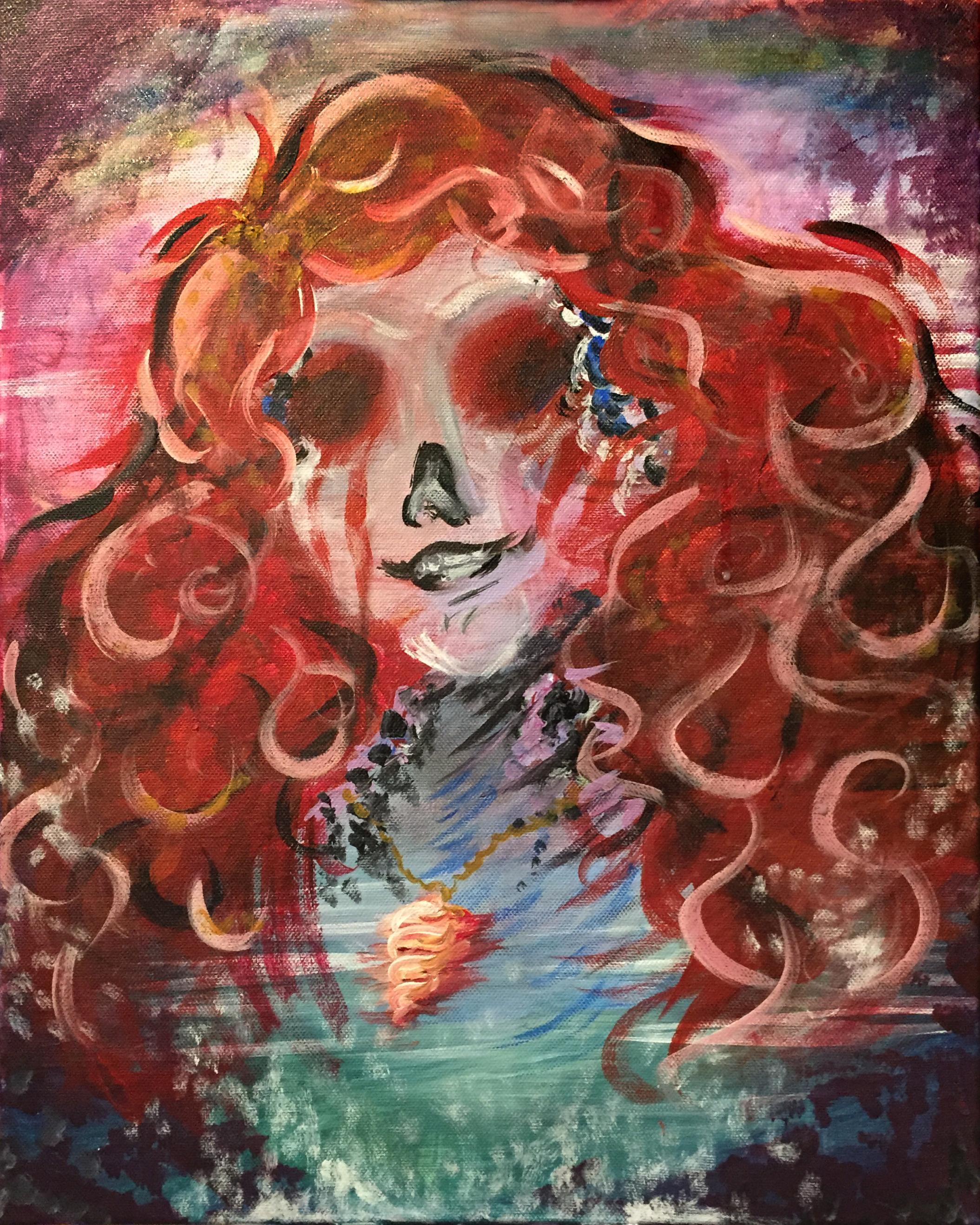 "Ariel  16""x20""acrylic on canvas."