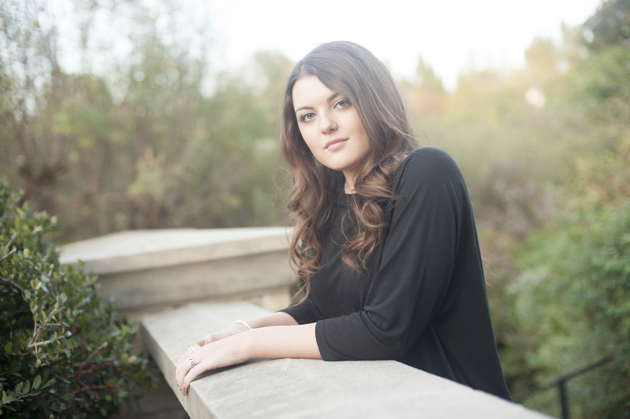 Senior Portraits at Dallas Arboretum