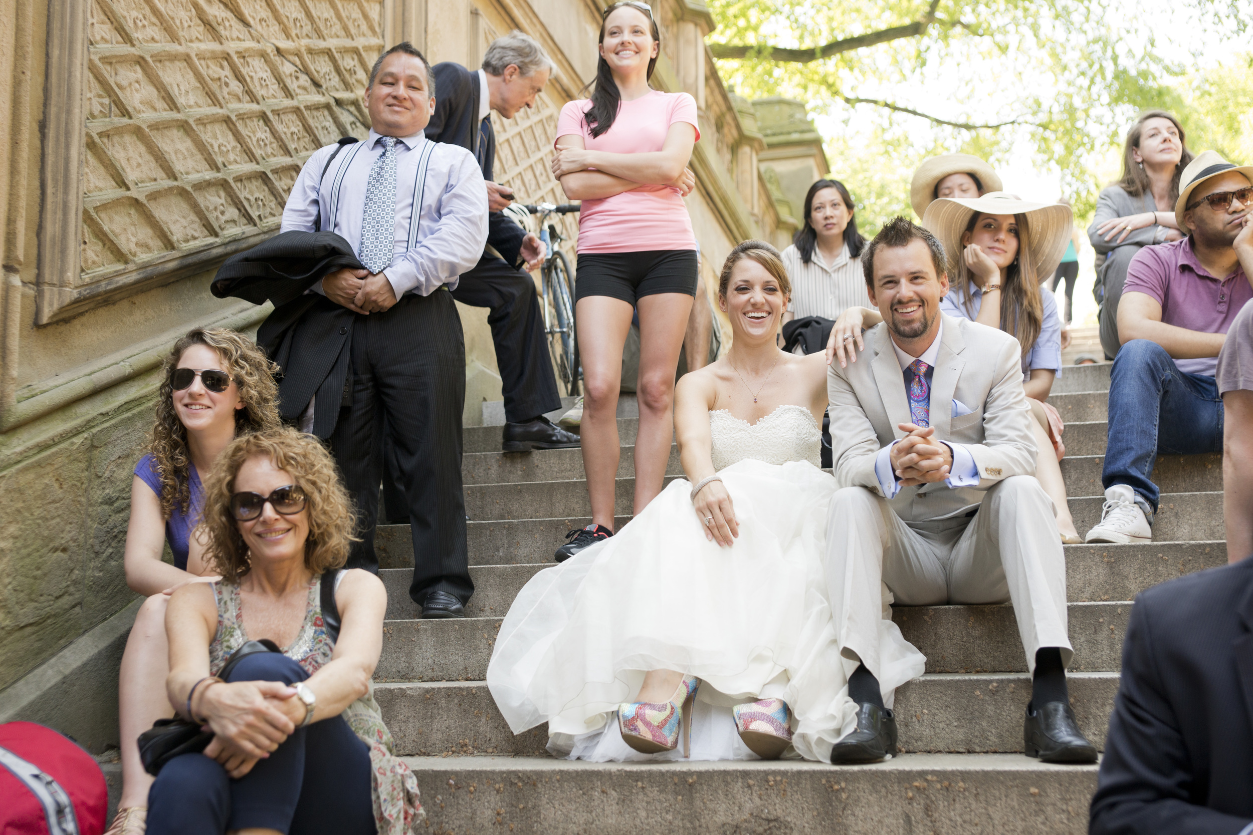 Bride and Groom in Central Park NYC